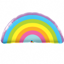 Radiant Rainbow Large Foil Balloon 1pc